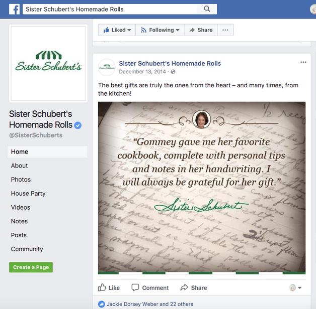 Social Posts//Sister Schubert's