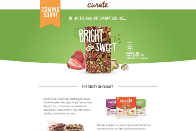 Website//Curate Snack Bars