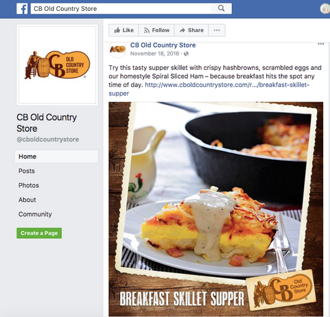 Social Posts//CB Old Country Store