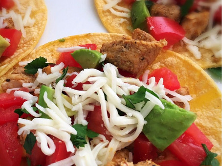 Easy Chicken Tostados-A Healthy Weeknight Meal!