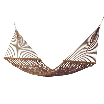 Large Antique Brown Polyester Rope Hammock