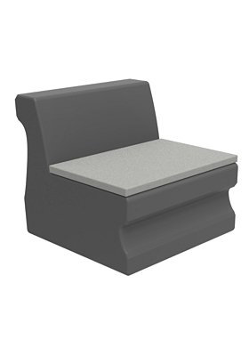 Radius Armless Module with Seat Pad