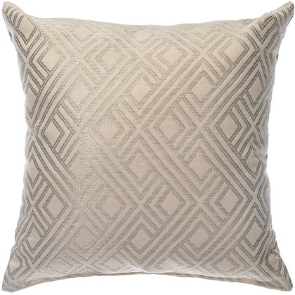 Integrated Pewter Outdoor Throw Pillow