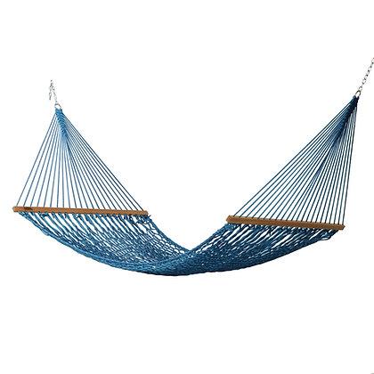Large Coastal Blue Polyester Rope Hammock