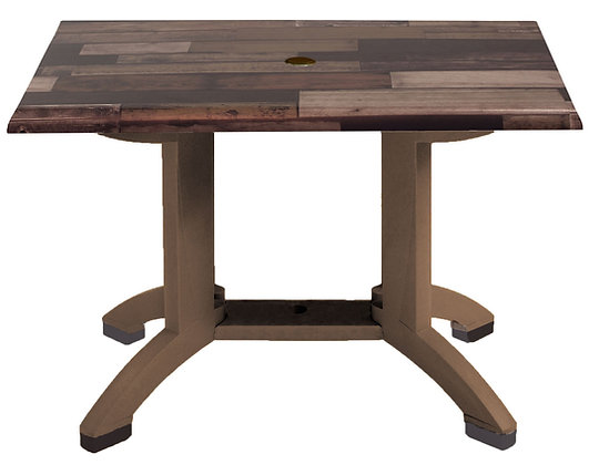 "Atlanta 48"" x 32"" Shiplap Decor Table with Bronze Legs"