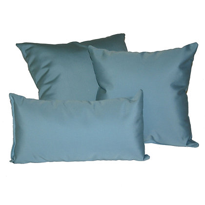 Mineral Blue Outdoor Rectangle Throw Pillow