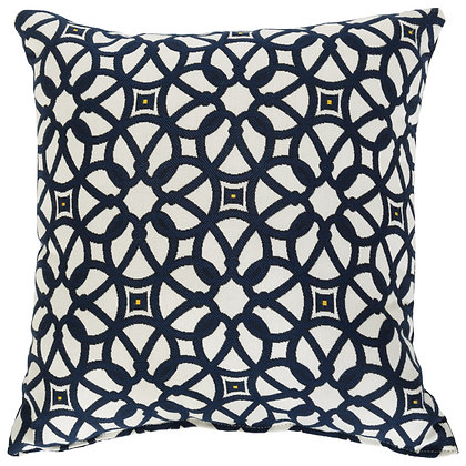 Luxe Indigo Designer Porch Pillow