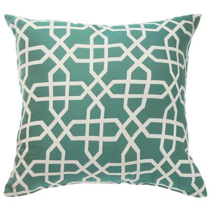 Bevel Lagoon Outdoor Throw Pillow