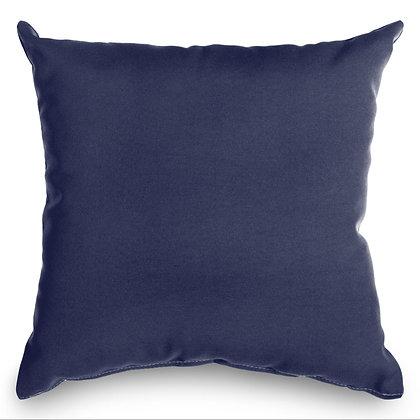 Navy Blue Outdoor Throw Pillow