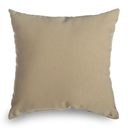 Antique Beige Outdoor Throw Pillow