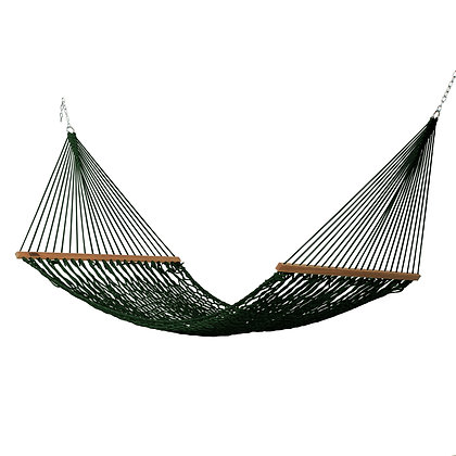 Large Green Polyester Rope Hammock