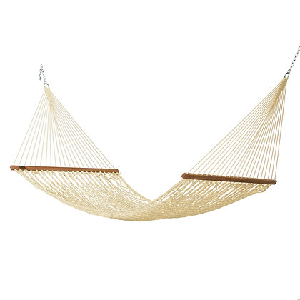 Large Oatmeal Polyester Rope Hammock