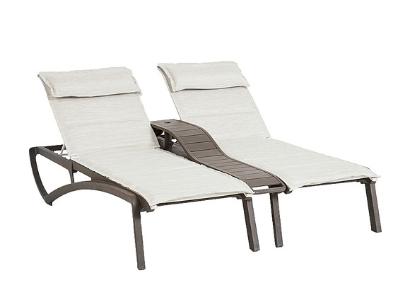 Sunset Comfort Duo Twin Chaises with Console