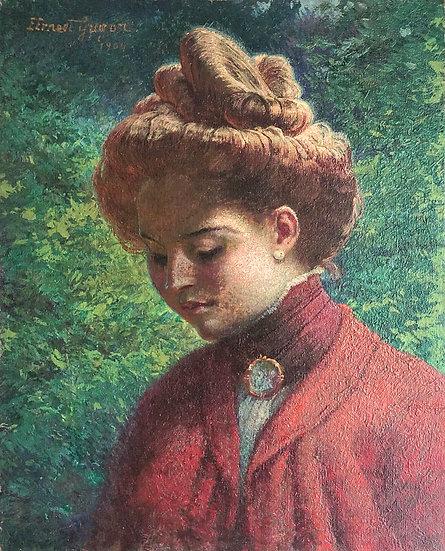 """""""Portrait de Femme au Chignon"""" - 1904"""
