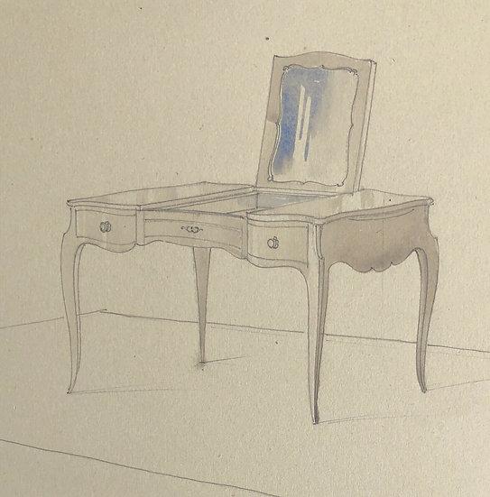 """Maison Piersen"" - Original Vintage Drawing - 1950/1960s #19"