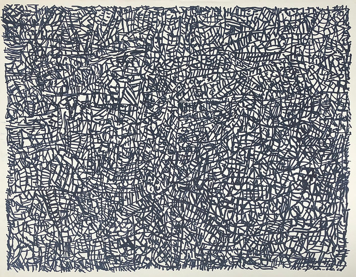 "David Lan-Bar (1912-1987) - ""Abstraction"" - Large Drawing #1"