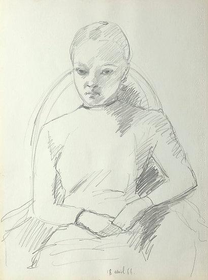 François Lanos - Dessin Original - 1966 #23