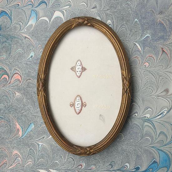 """Maison Morin-Piochet - """"Étude de Bagues"""" - Dessin original"""