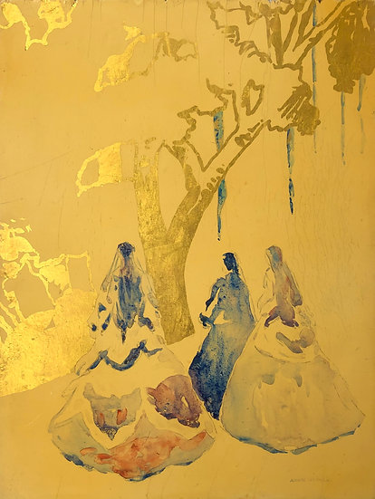 """André Nivard (1880-1969) - """"Women in a landscape"""""""