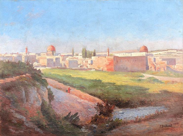 "Paul-Émile Bonhotal - ""Jerusalem"" - Painting 1924"