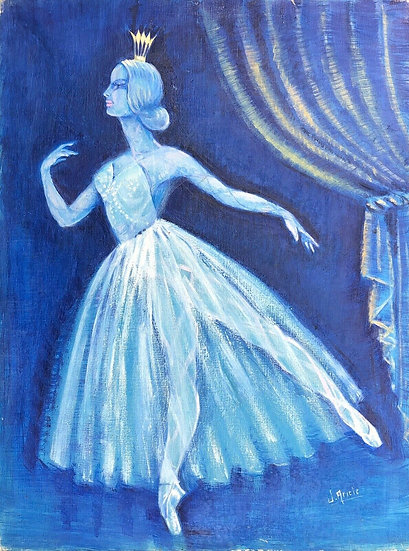 """The Dancer"" - Original Oil Painting 1931"