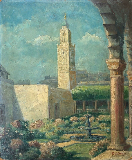 """The Great Mosque of Paris"" - Oil Painting"