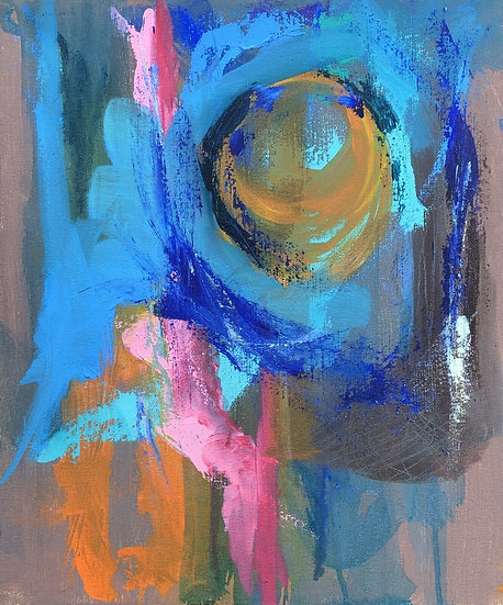 "Venke Sletbakk (XXe) - ""Abstraction"" - Peinture originale #1"