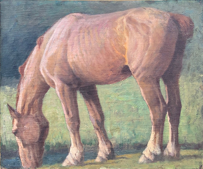 """""""Horse"""" - Oil painting - Late 19thC / Early 20thC"""