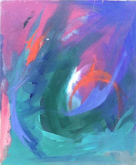 """Venke Sletbakk (20thC) - """"Abstraction"""" - Original painting #4"""