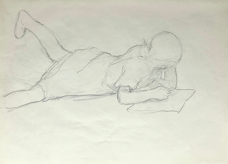 François Lanos - Original Vintage Drawing - 1950's #27