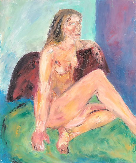 "Marie-Louise Garnavault (1911-2012) - ""Nu féminin"" #5"
