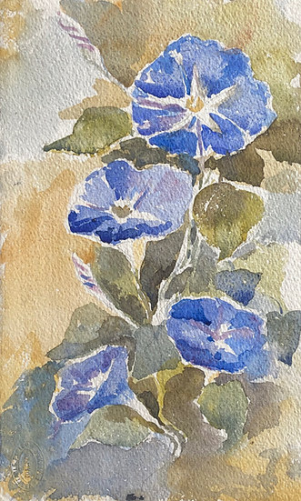 "Monique Perrot - Original Watercolor - ""Flowers"" #26"