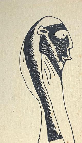 RENÉ AUDEBÈS (1922-1993) - Vintage Drawing c.1950 #22