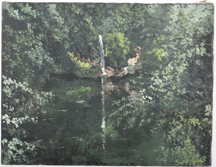 """SAINT-ALBAN - """"Landscape"""" - Oil Painting #1"""