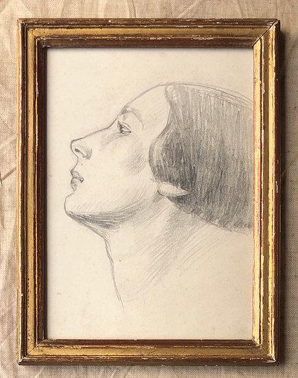 """Julien Le Bordays (XIXe-XXe) - """"Portrait de Jeune Femme"""""""