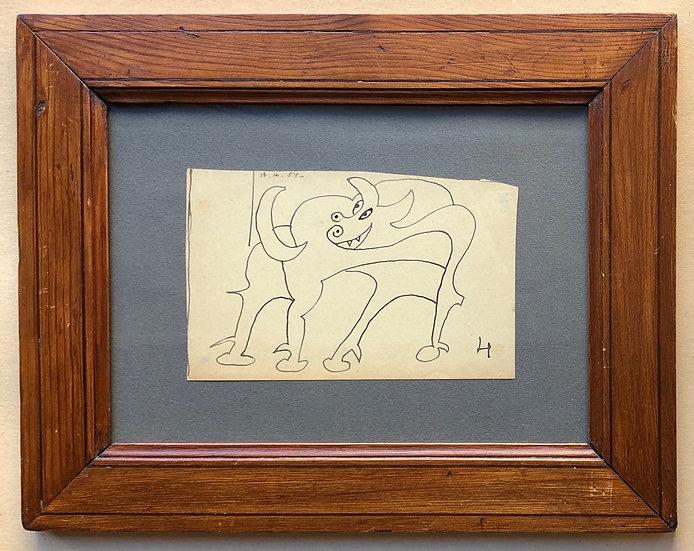 René Audebès (1922-1993) - Original Drawing 1951