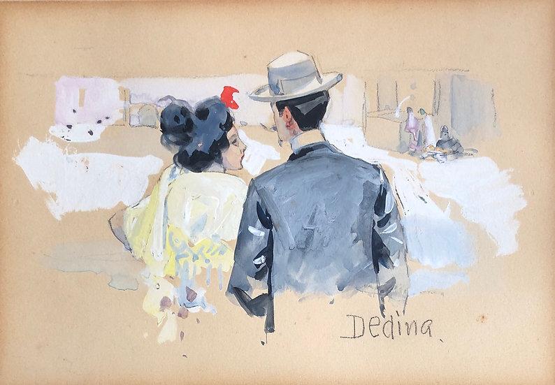 Jean Dedina (1870-1955) - Dessin original, c.1899