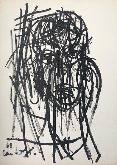 "David Lan-Bar (1912-1987) - ""Portrait"" - Grand Dessin #9"