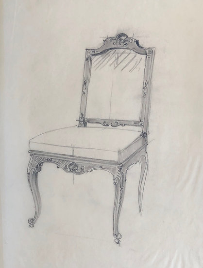"""Maison Piersen"" - Original Vintage Drawing - 1950/1960s #38"
