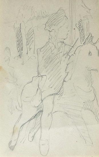 François Lanos - Dessin Original - c.1950 #7