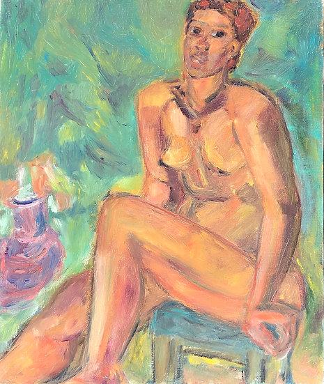 "Marie-Louise Garnavault (1911-2012) - ""Nu féminin"" #8"