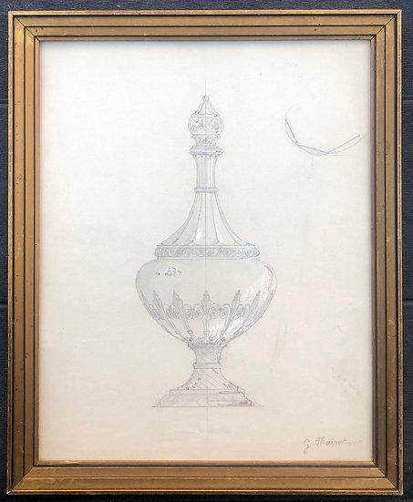 «Étude de Flacon» - Dessin original, circa 1900