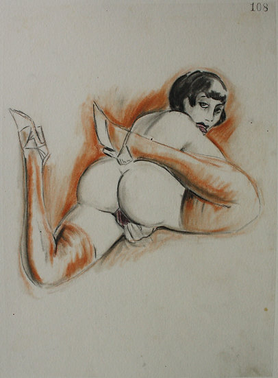 "Ludwig BOCK (1886-1971) - ""Erotic Scene"" - Original Drawing #10"