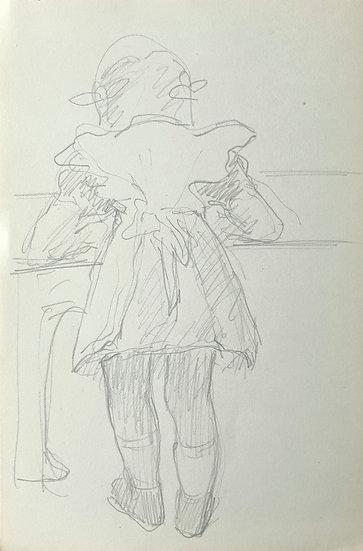 François Lanos - Dessin Original - c.1950 #20