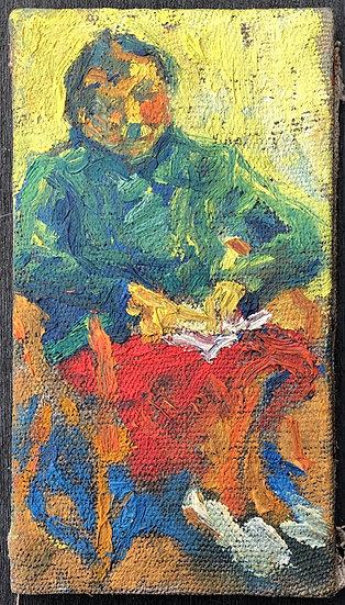 "René Brochard (1926) - Painting 1950s - ""Sleeping woman"""