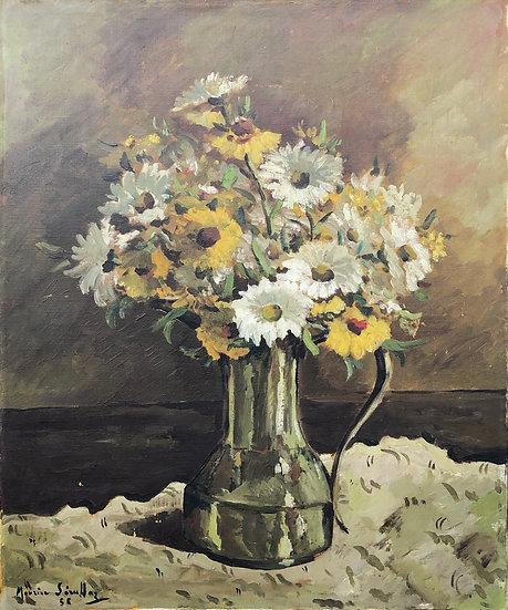 """Maurice Serullaz (1914-1997) - """"Bouquet of Daisies"""""""