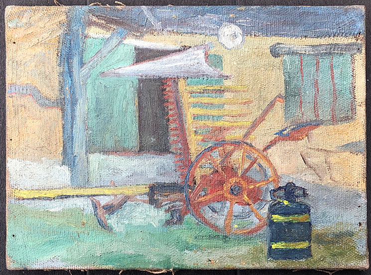 "René Brochard (1926) - Painting 1950s - ""Countryside Landscape"""