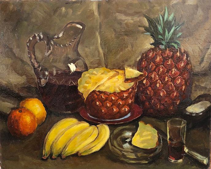 """Still Life"" - Vintage Oil Painting - 20thC"