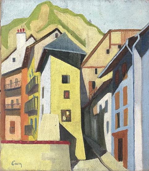 """""""Cubist Landscape"""" - Oil on canvas"""
