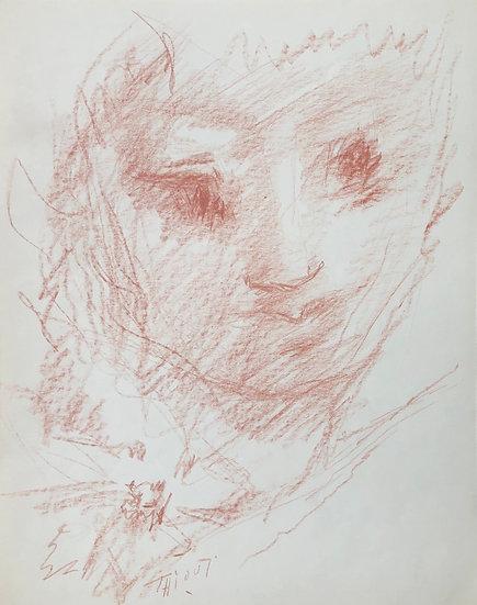 """Jacques Thiout (1913-1971) - """"Portrait"""" #10"""